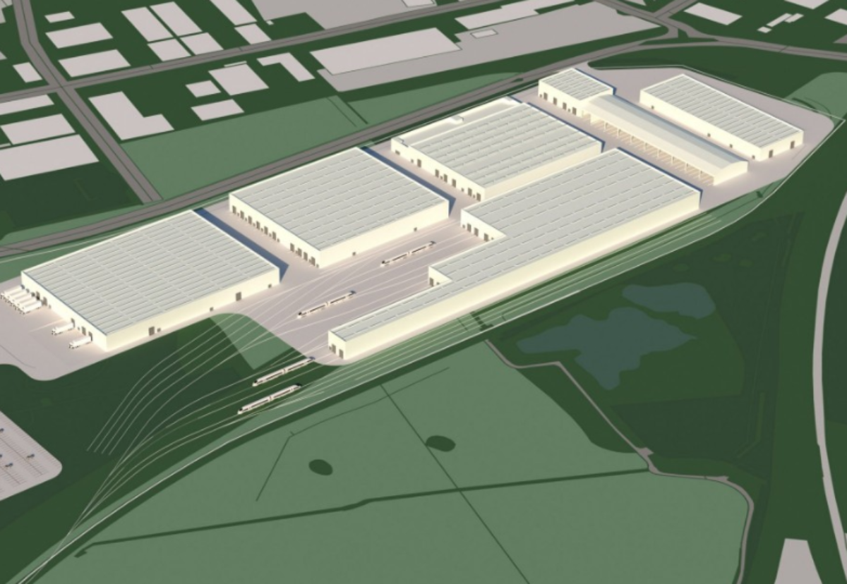 Factory plan for 104-acre site at Goole 36, close to junction 36 of the M62 motorway