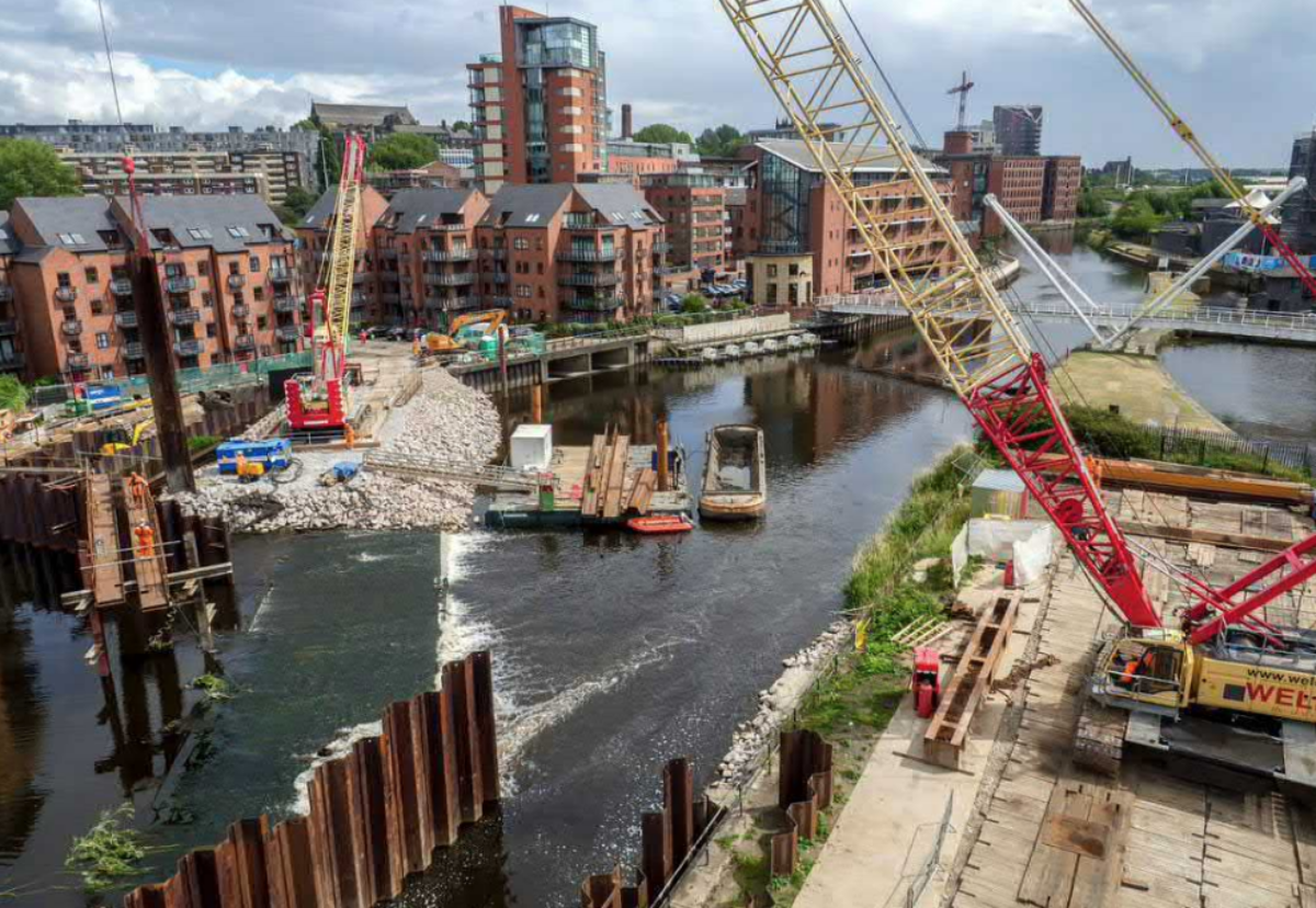 BMM completed phase one lifting weir works in 2017