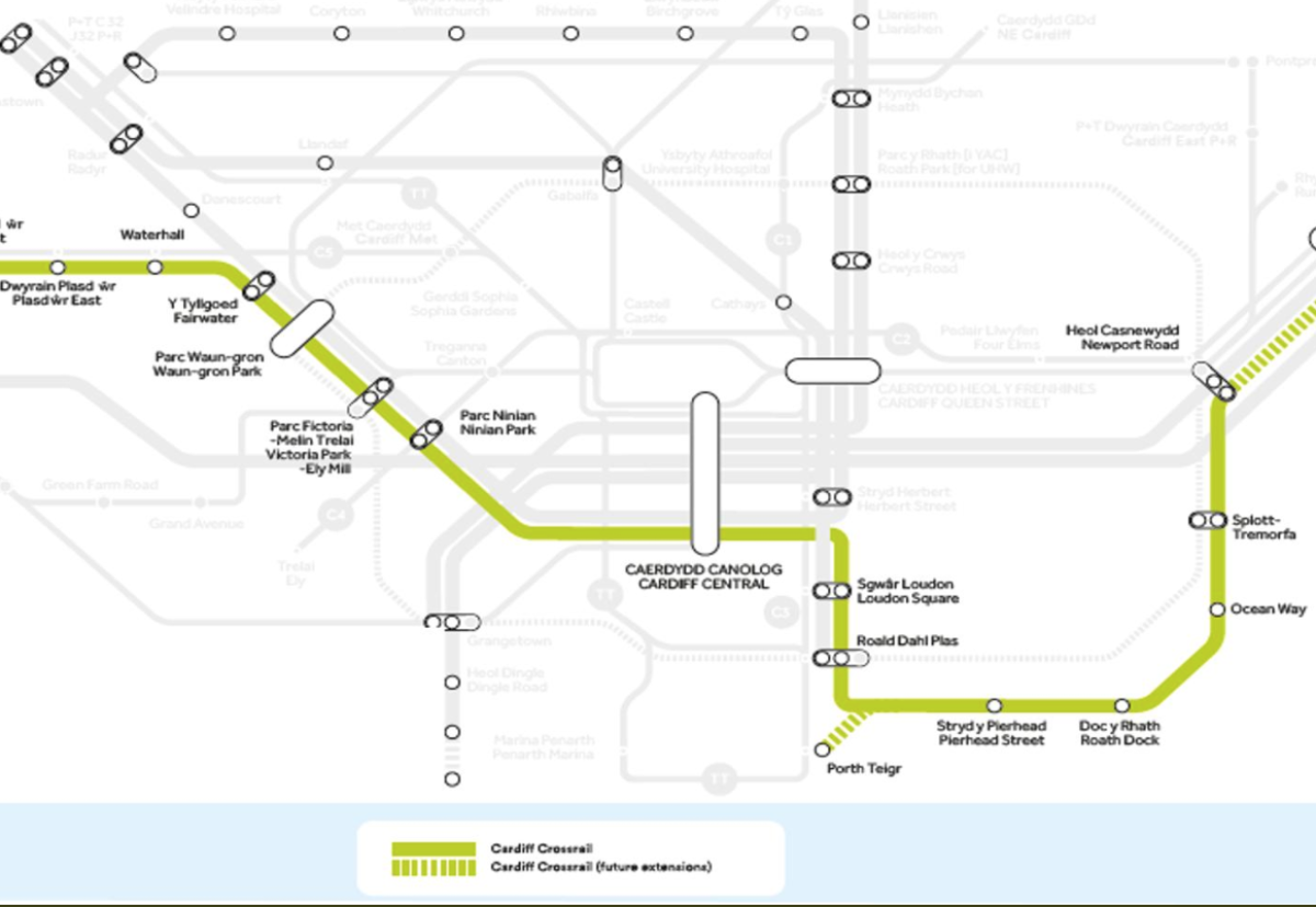 New east to west crossrail tram-train line forms key part of new transport vision for Cardiff