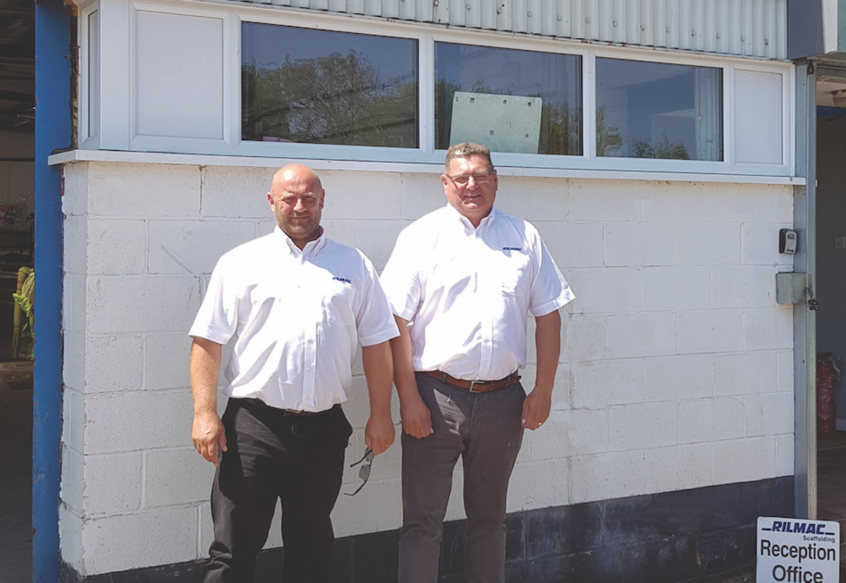 Kevin Mee (Contracts Manager) and Paul Wallis (Director) Outside the New Rilmac Depot in Northampton