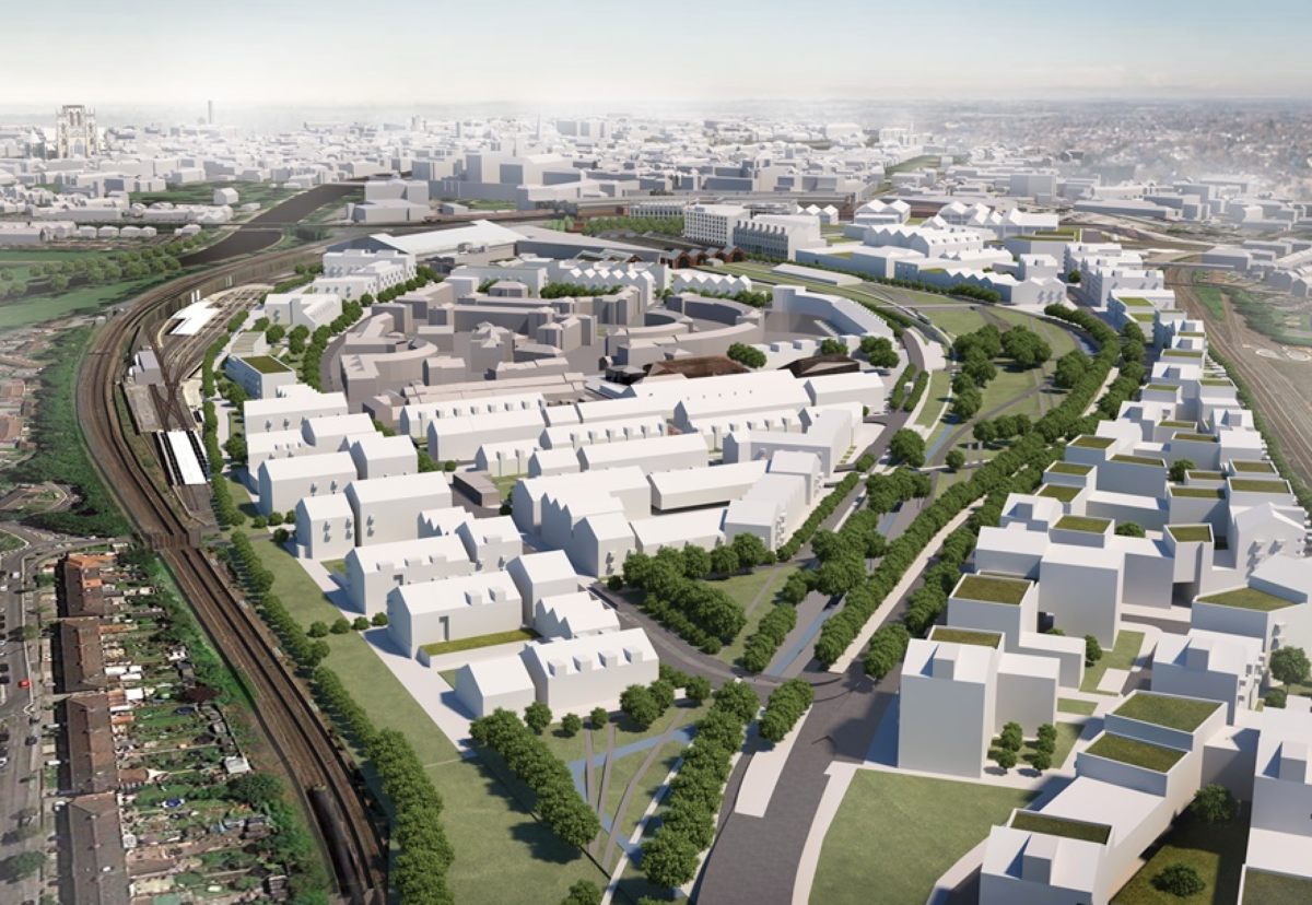 The 45ha site is one of the largest brownfield city centre sites in the UK