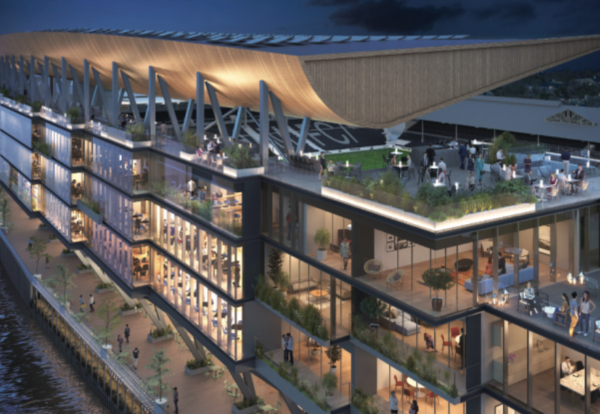 Buckingham has secured Fulham's new riverside stand