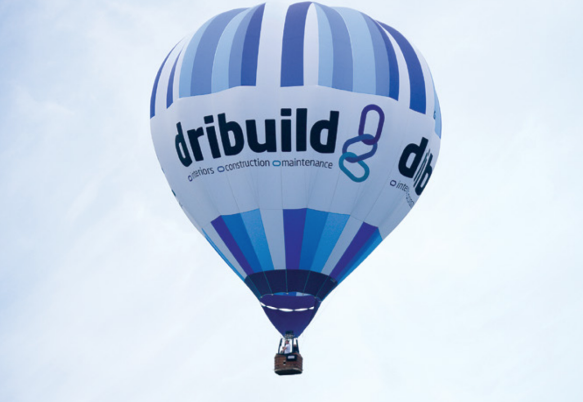 Up! Up! And away…….Dribuild promotional balloon in better times when the company was expanding rapidly