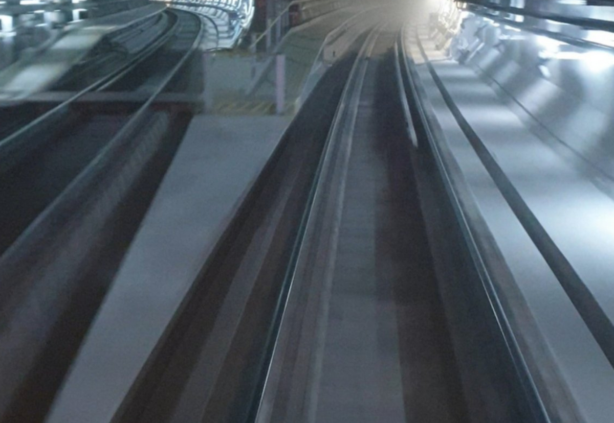 Photo taken by a Crossrail worker showing dust settled in the tunnels