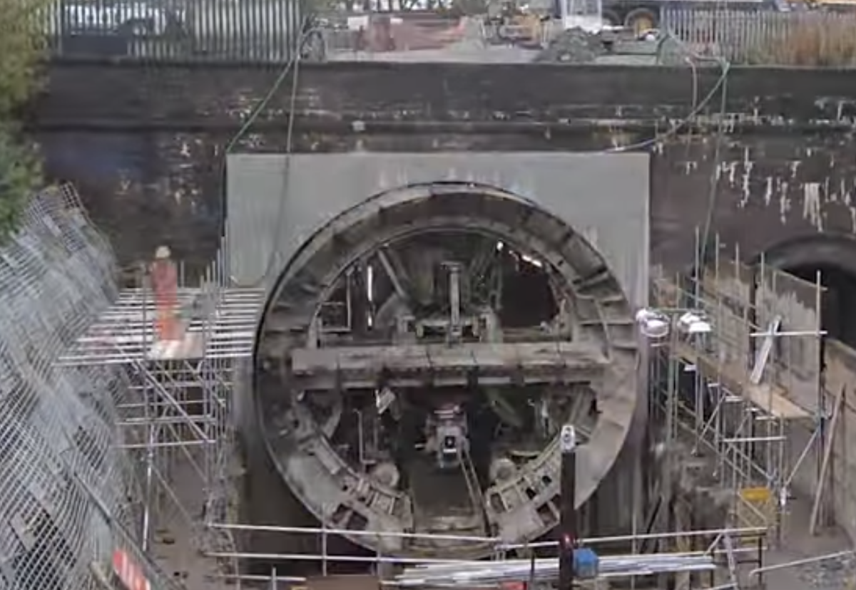 TBM used for Farnworth Tunnel in Bolton, widened by almost 50%.