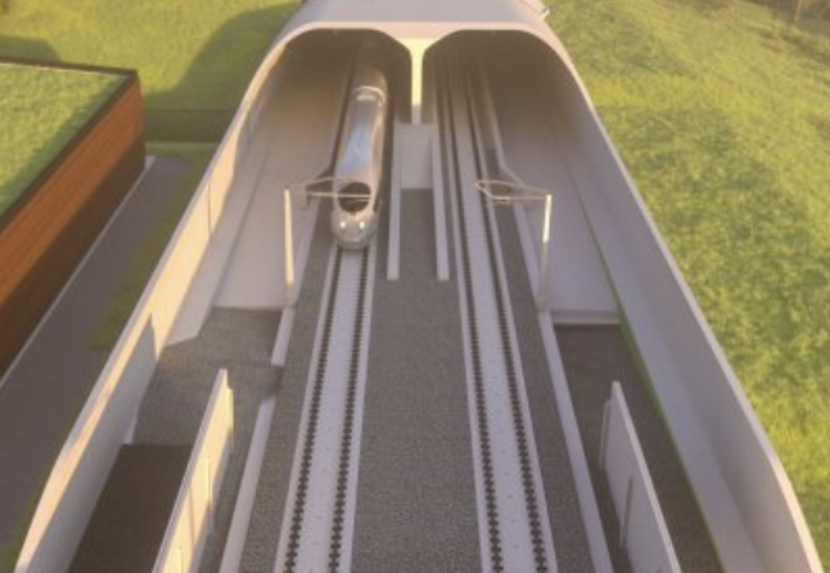 The track will be set onto concrete slabs instead of the ballast commonly used on the UK rail network