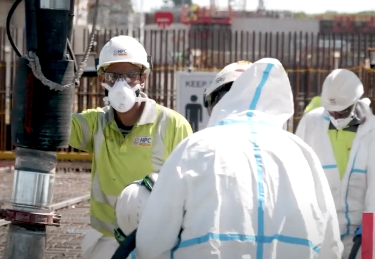 Where social distancing is not possible, workers have been using extra protective equipment