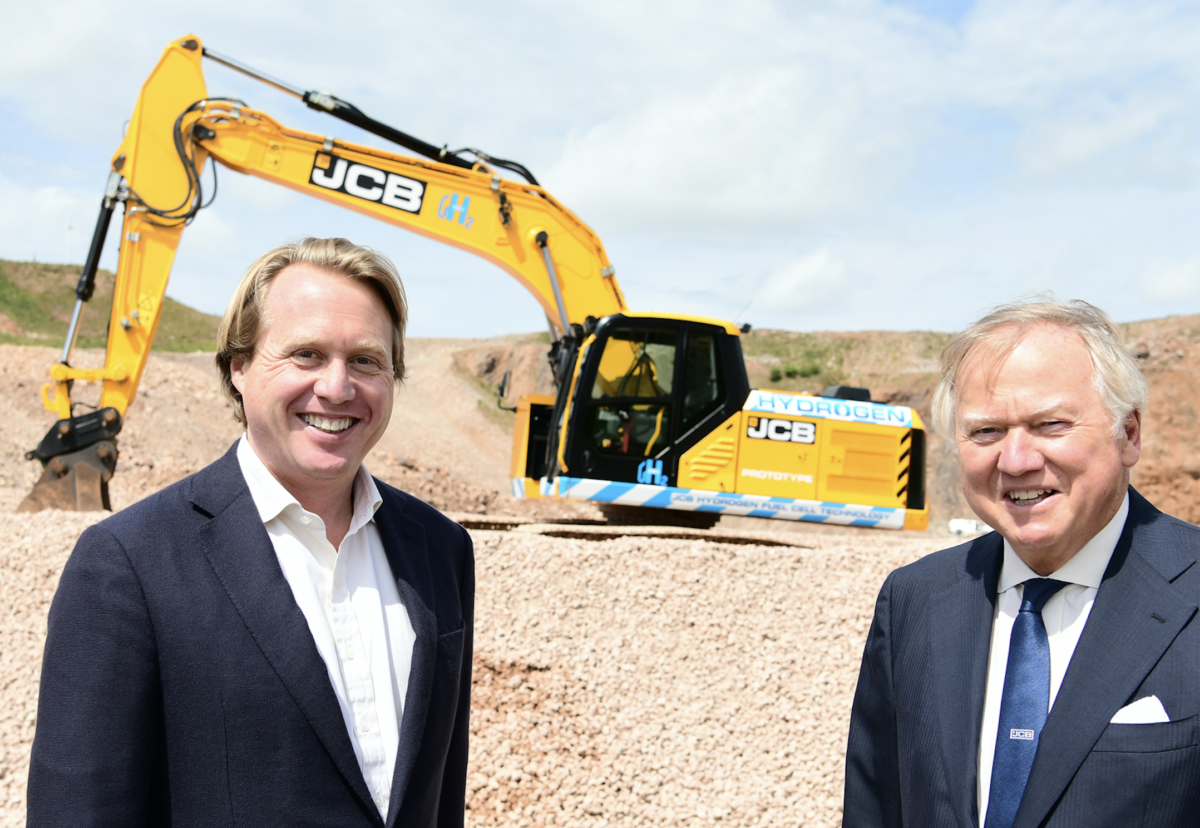 Jo Bamford and father Sir Anthony team up to create world's first hydrogen-fuelled digger