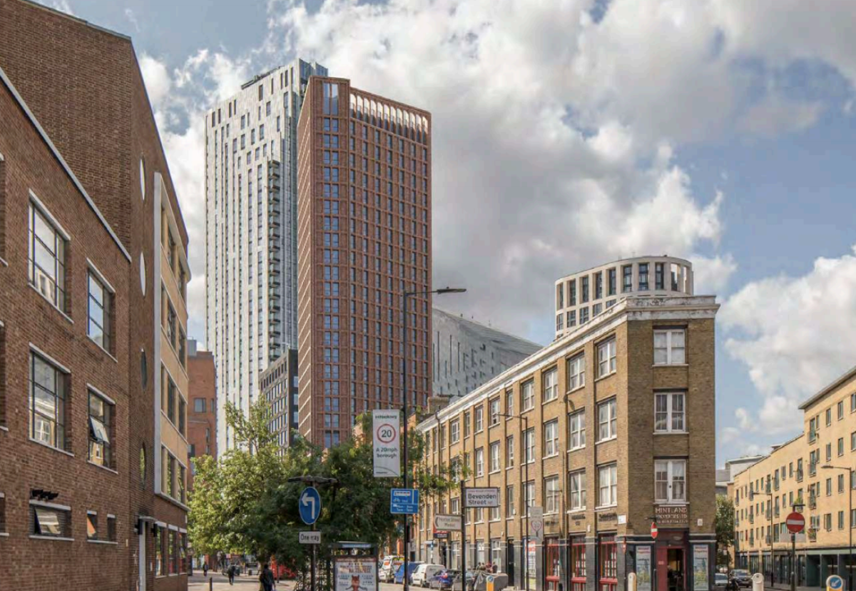 The red brick East Road building will rise to 108m