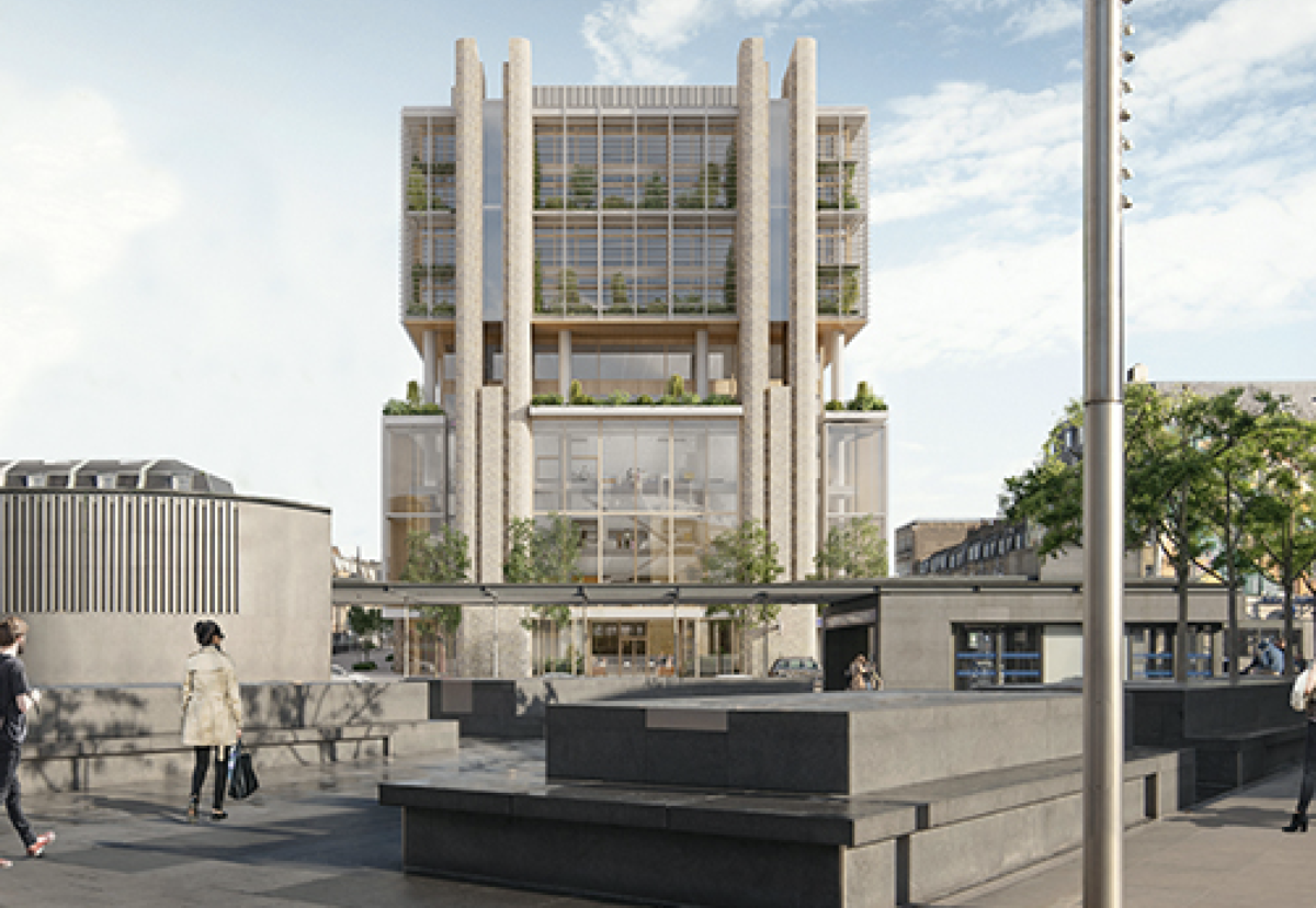 Architect AHMM aims to green the public realm around polluted Euston Road site