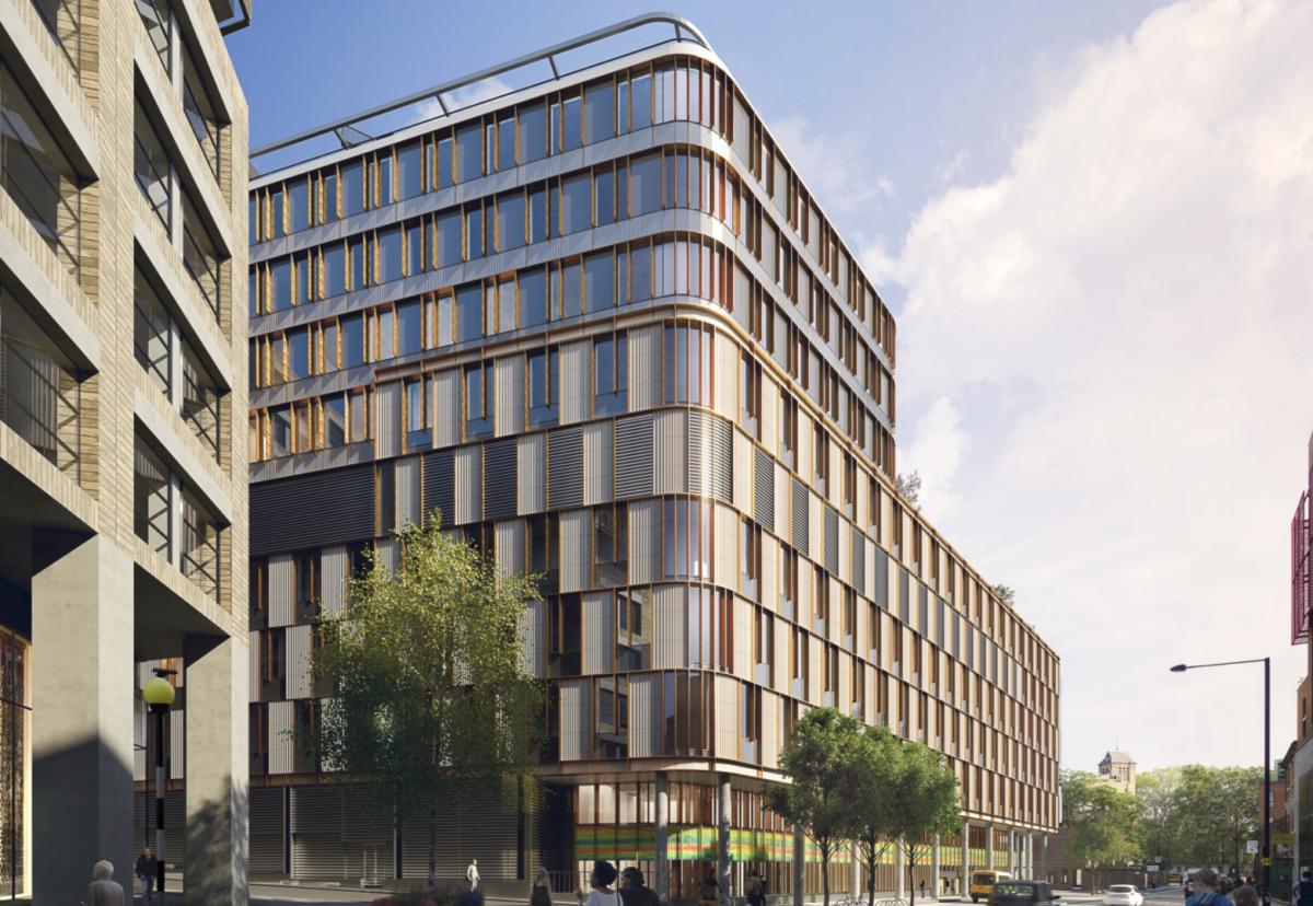 Planned new Moorfields eye hospital in London.