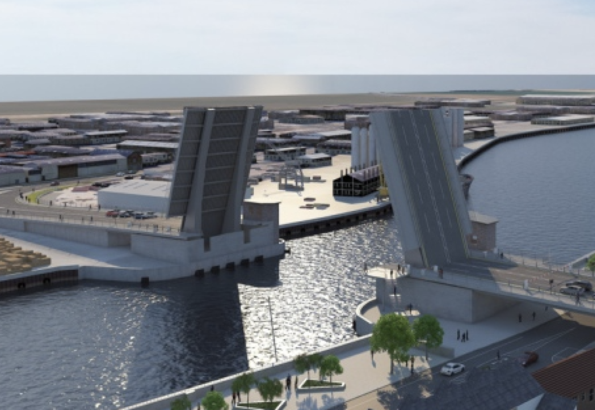 Lifting bridge will provide a more direct link between the western and eastern parts of the East Norfolk coastal town.