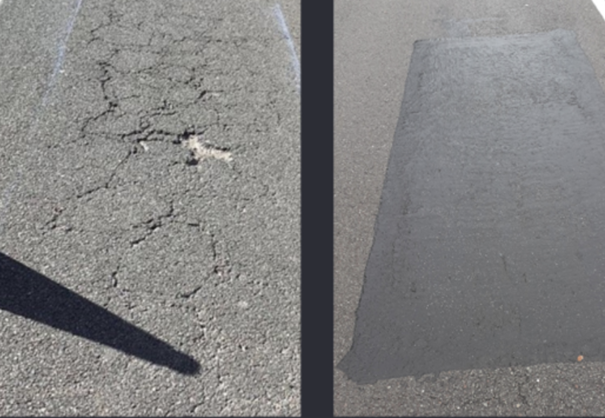 Rubberised road repair material reduces carbon footprint by 96%
