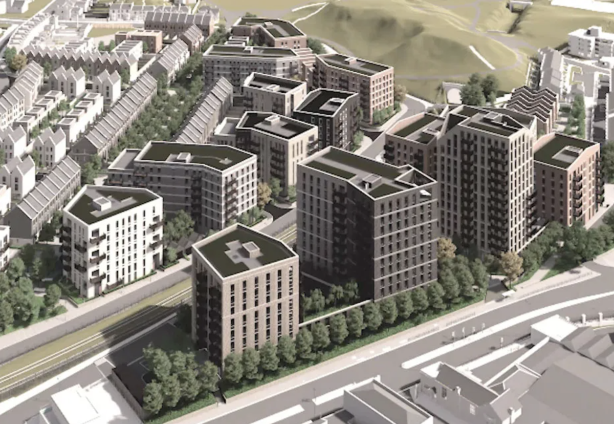 Architect PRP's plan envisage taller blocks to the north of the site