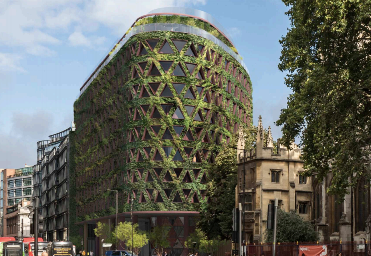 The living wall will include approximately 400,000 plants, which provide 7 tonnes of fresh air and extract 9 tonnes of C02 each year
