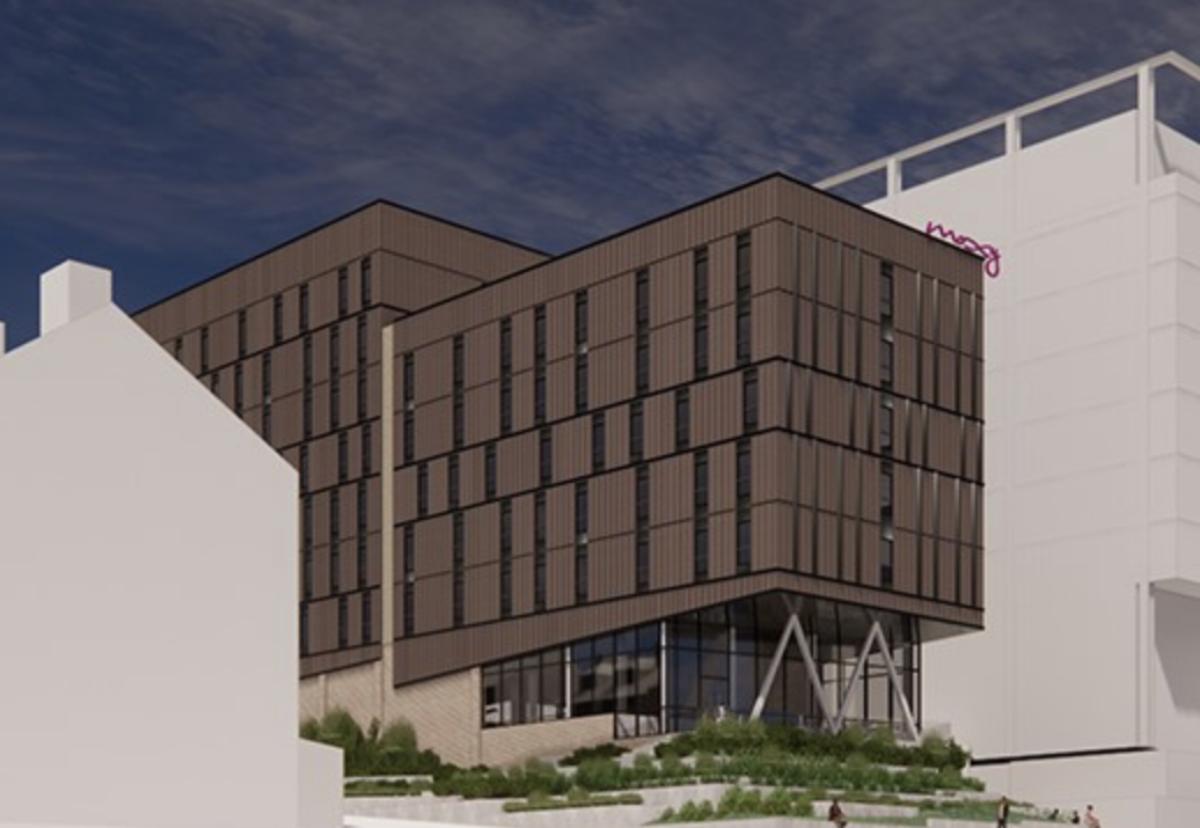 Moxy hotel plan by Vastint Hospitality