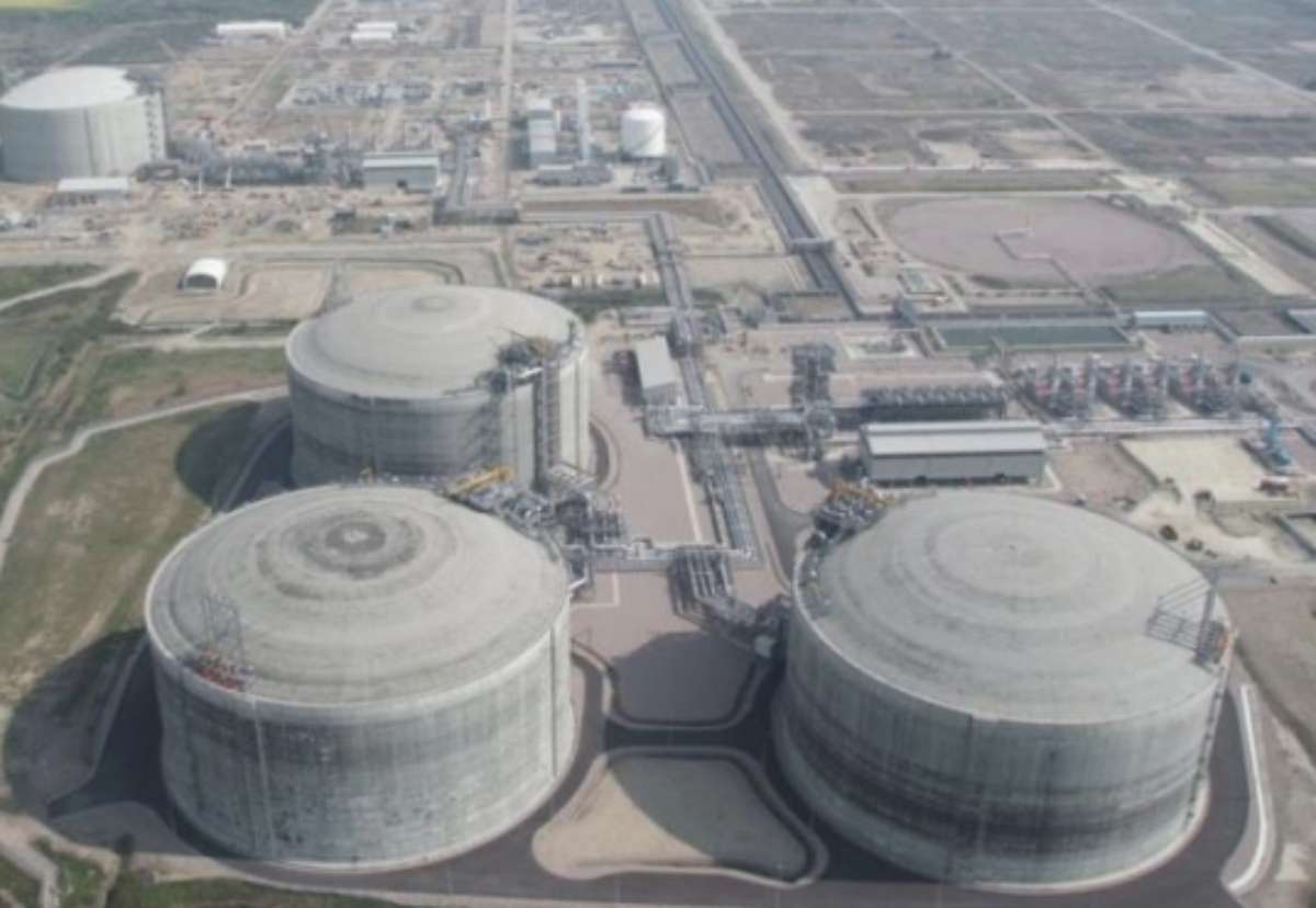 The new LNG tank will be similar in design to the three completed over a decade ago