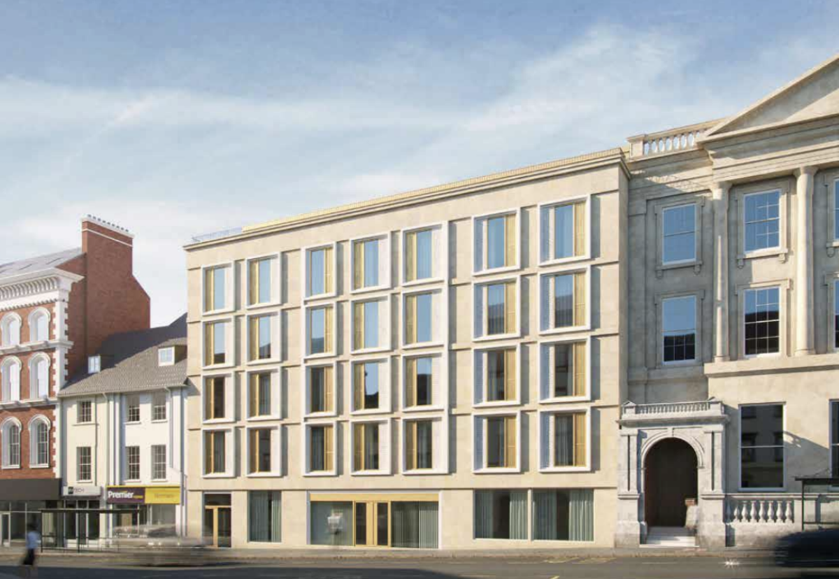 33 Drapery student scheme from the high street elevation