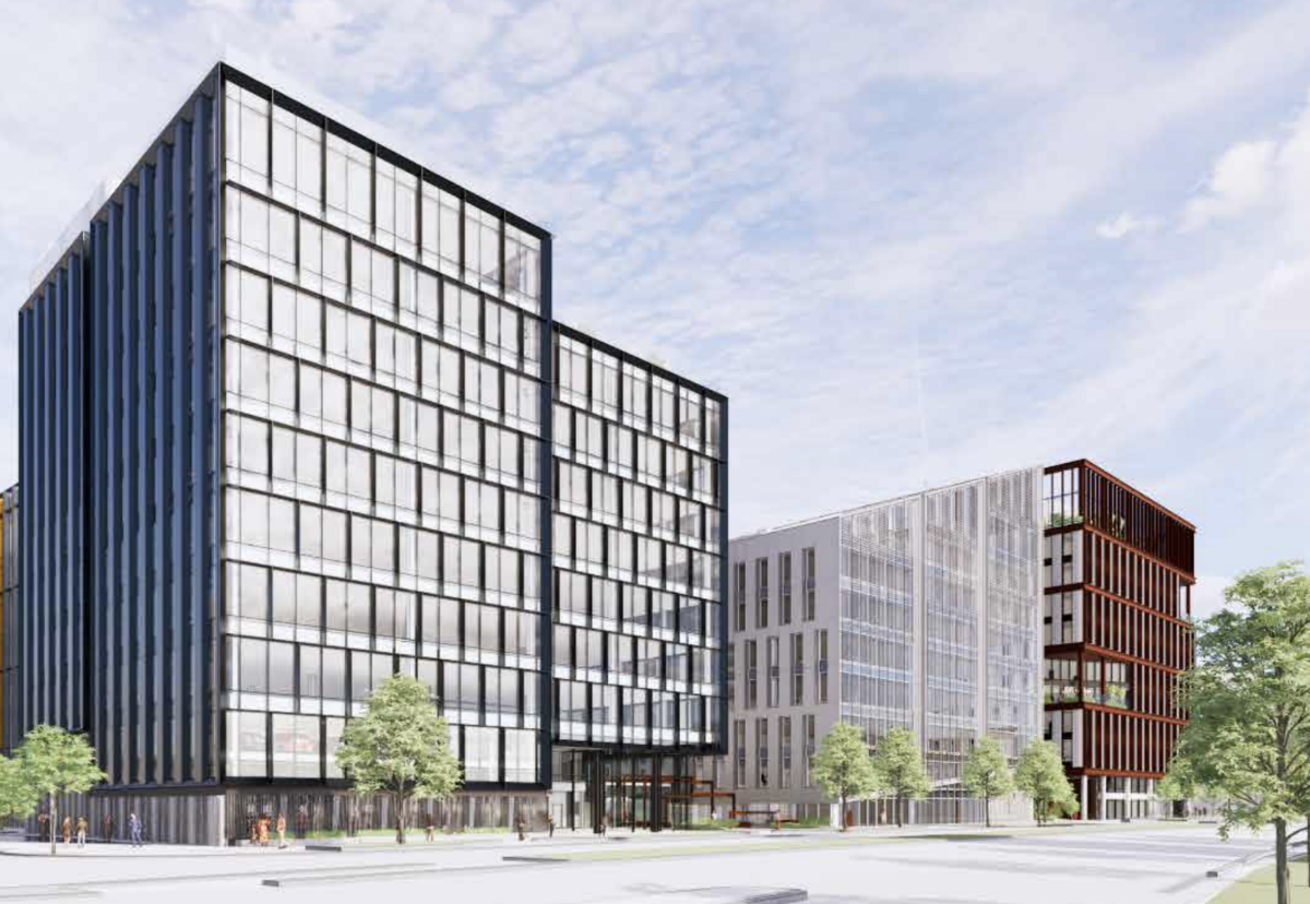 Slough zero carbon emission twin offices approved