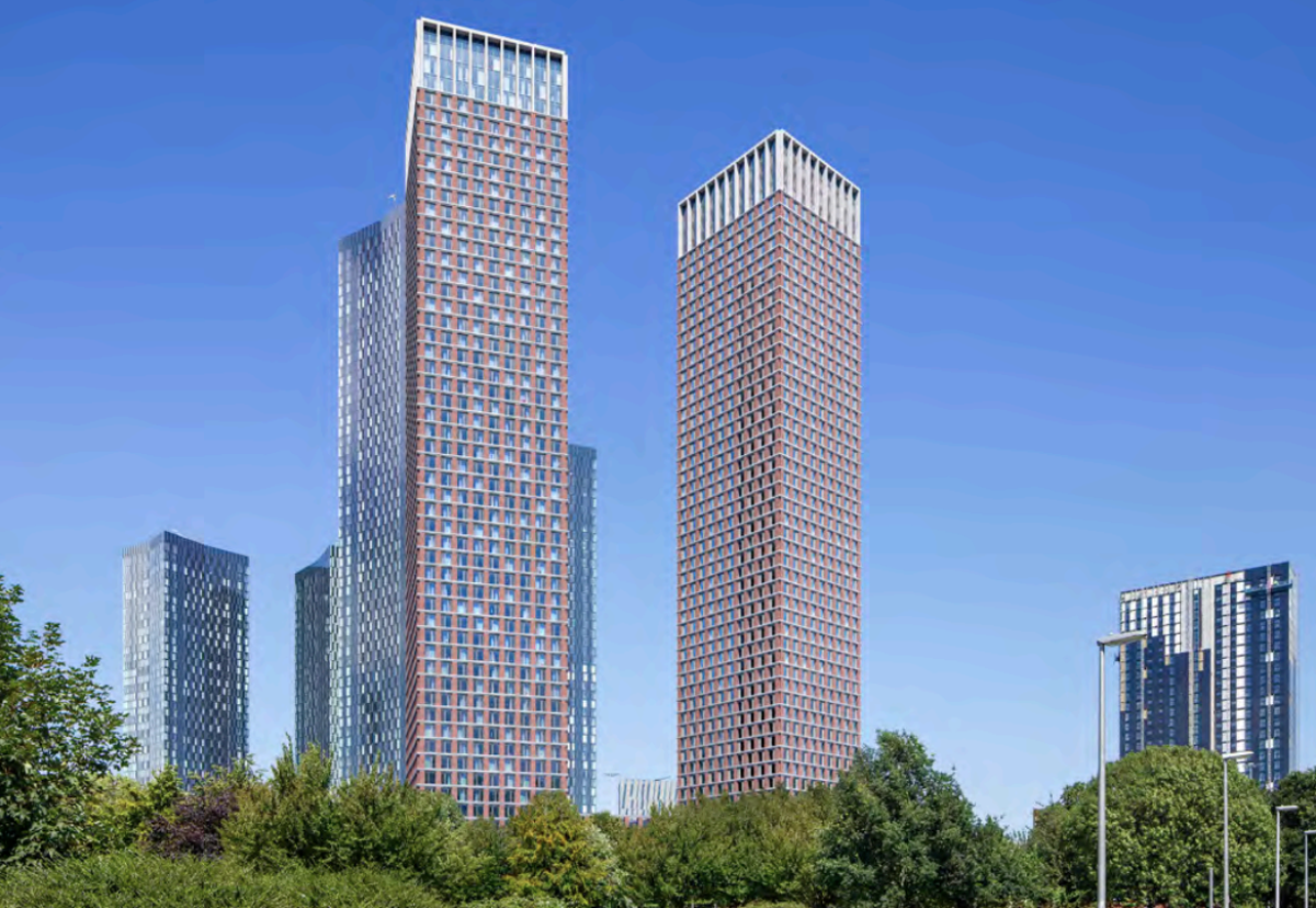 Hodder-designed twin towers would form part of the Great Jackson Street cluster
