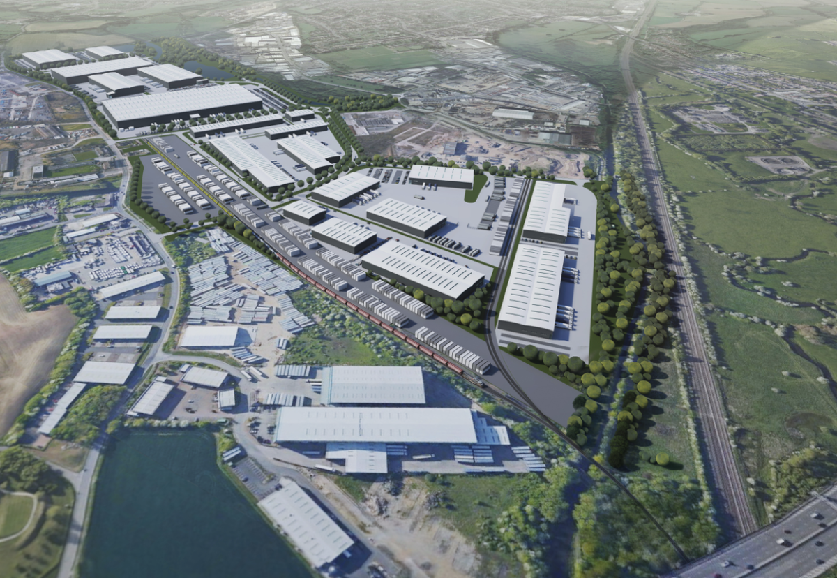 Site will accommodate new build warehousing from 15,000 to 1m sq ft for sale and to let