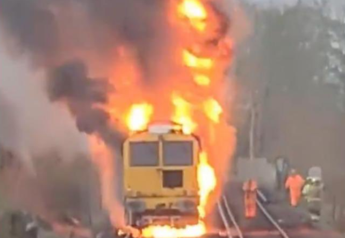 Network rail posted pictures of the blaze on Twitter
