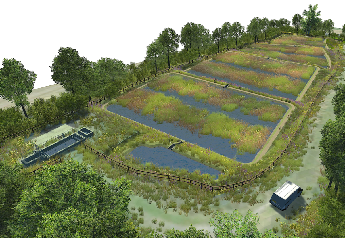 Clifton wastewater treatment works wetland will remove phosphorus from treated water
