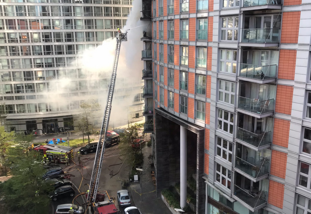 Picture courtesy of London Fire Brigade/Twitter