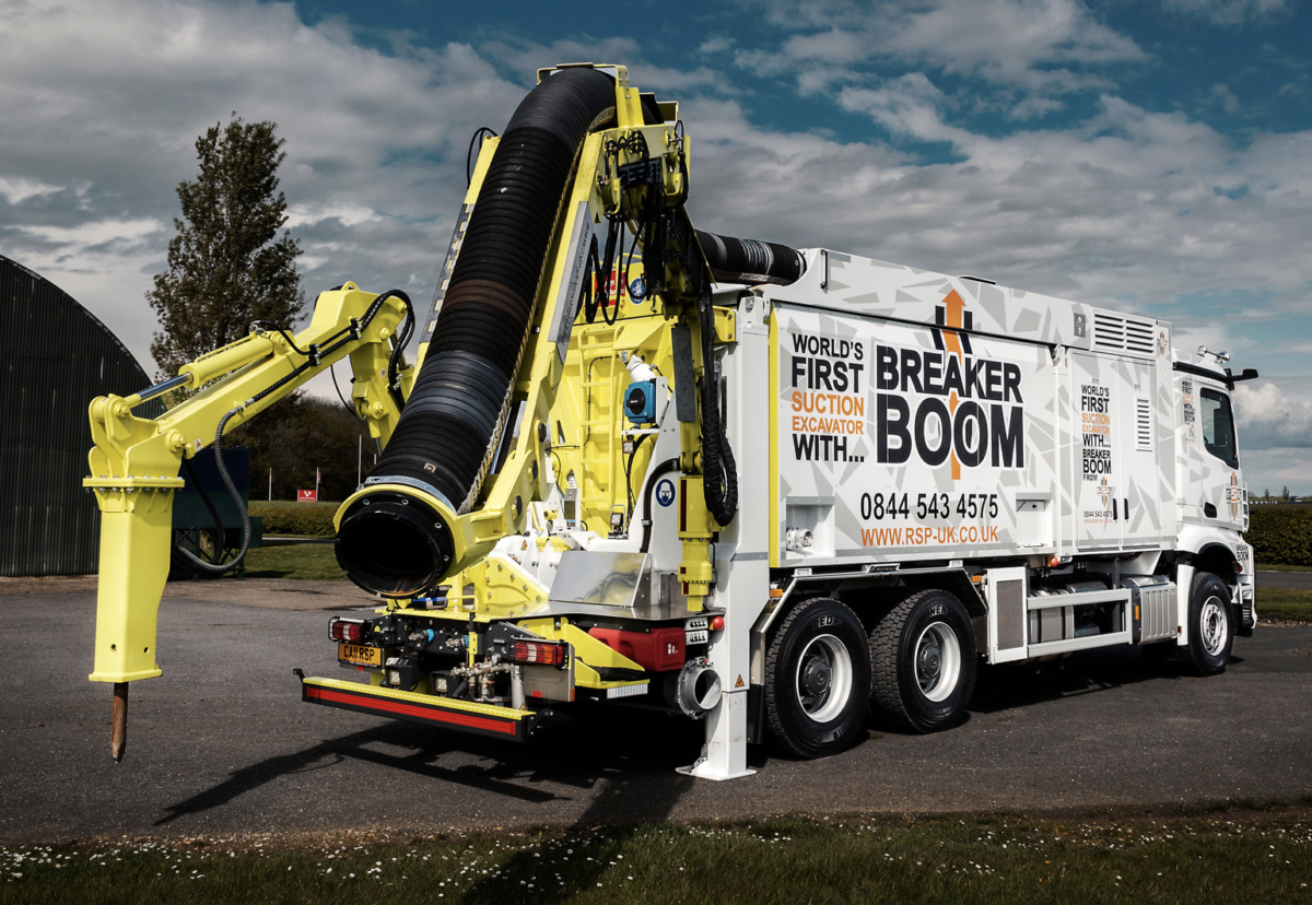 The 'Breaker Boom' boasts a combined; suction excavator, breaker and on-board compressor making it an ideal self-contained solution.