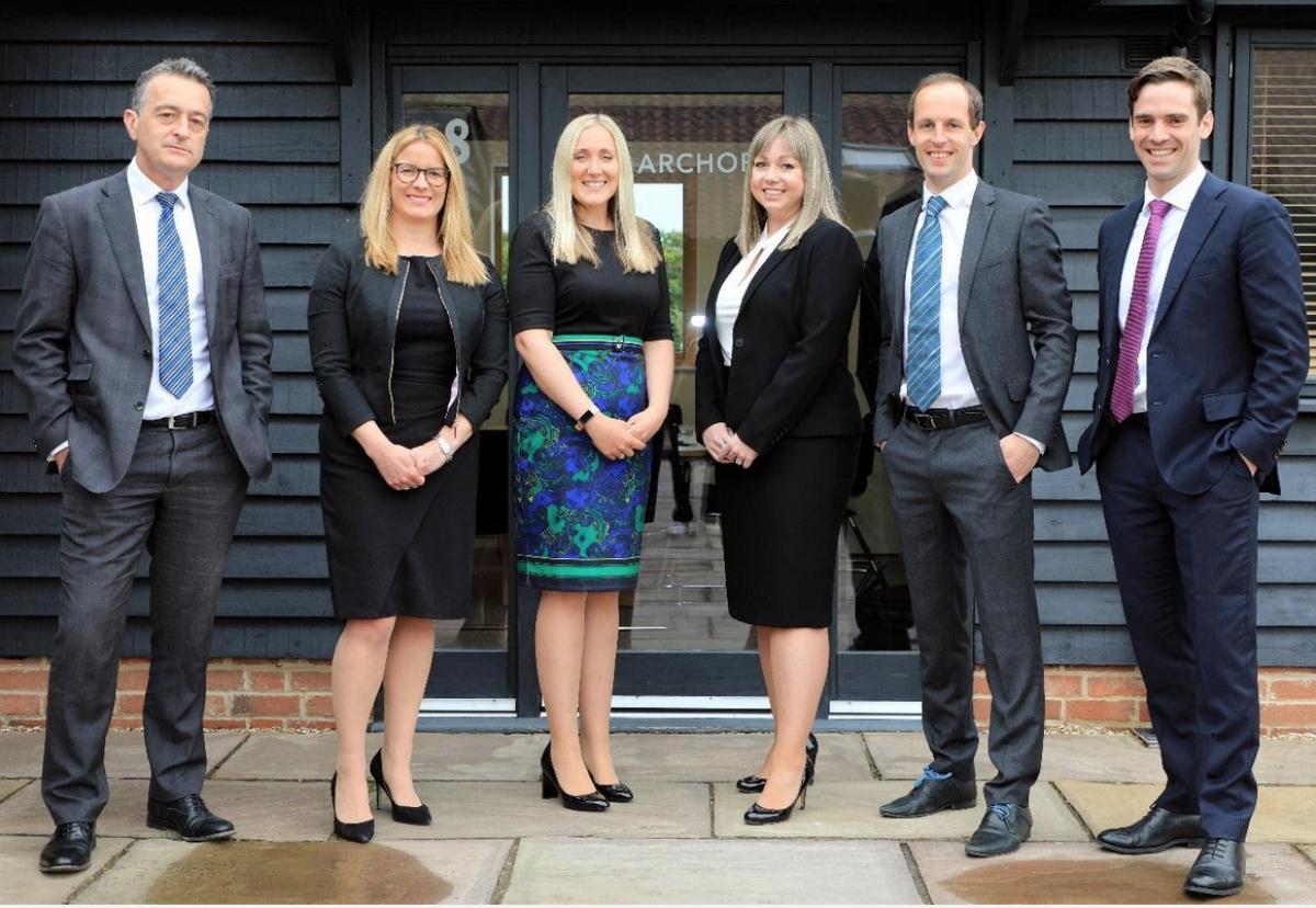 Archor Founding Partners, from left to right: Andrew Rush, Ruth Sunaway, Carolyn Porter, Hanna McNab, Oli Worth and Rory Abel