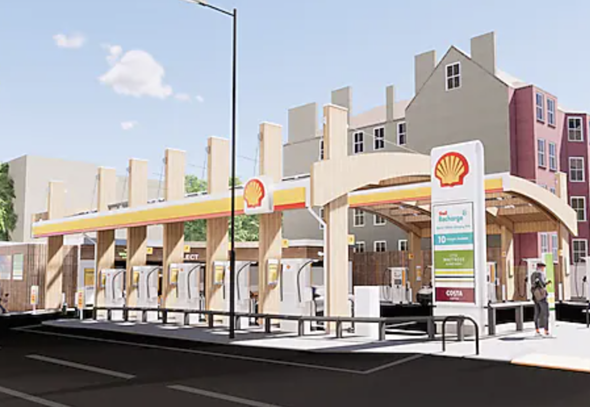 First time that Shell has converted an entirely traditional fuels site to an entirely electric site