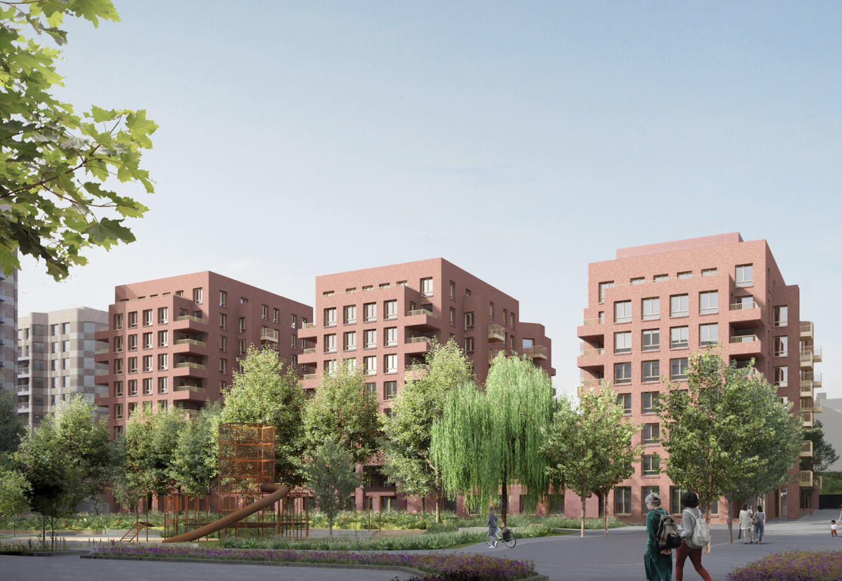 Site will be redeveloped with 14 multi-storey blocks of homes around a central park
