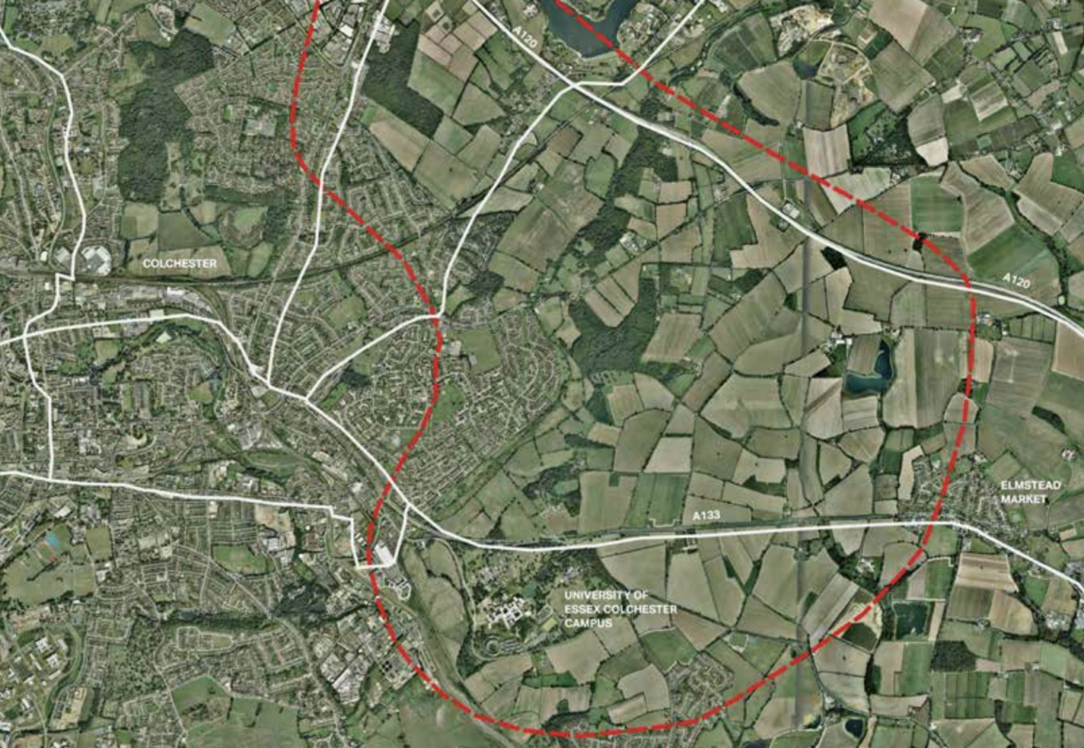 Housing expansion area in East Colchester
