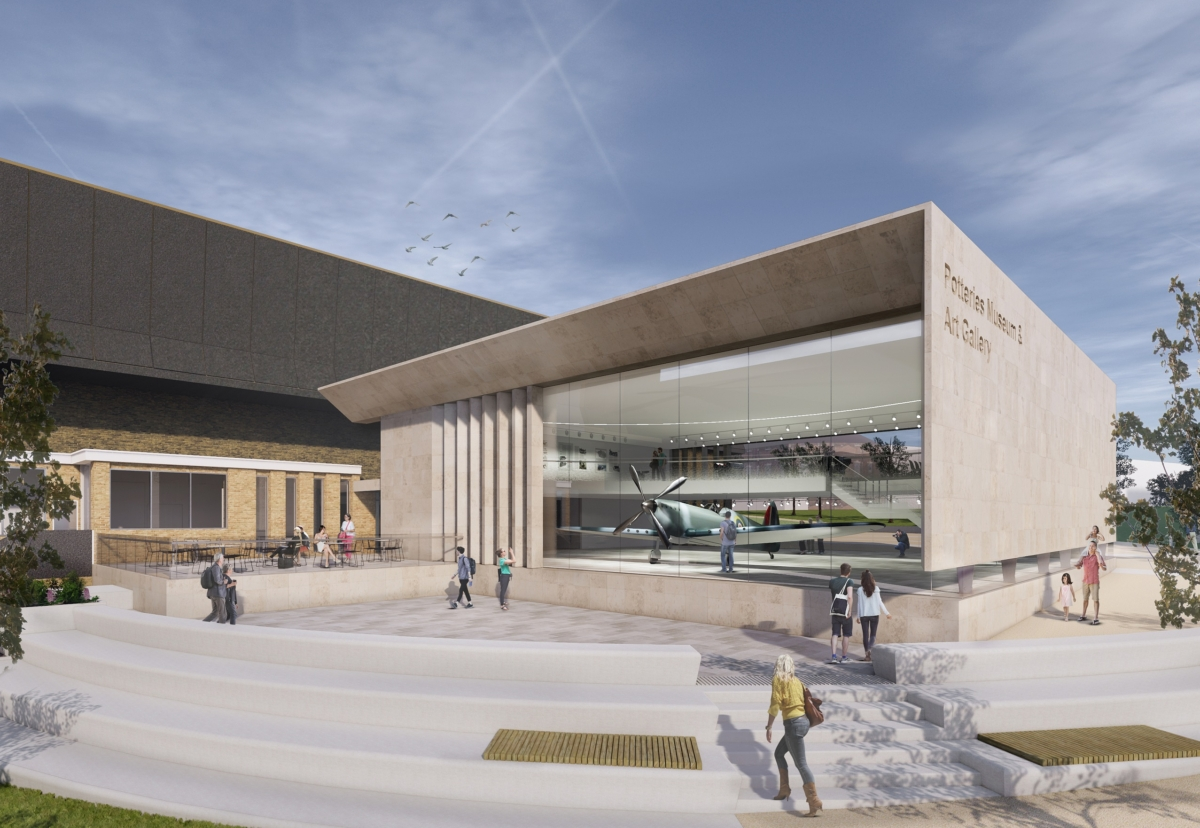 Architect Glancy Nichols designed the  Potteries Museum and Art Gallery extension
