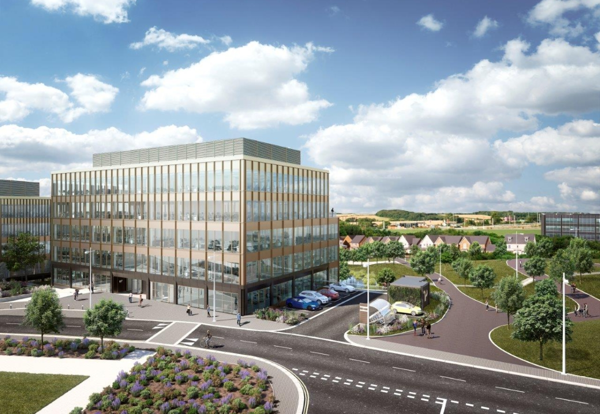 Proposed new landmark office building