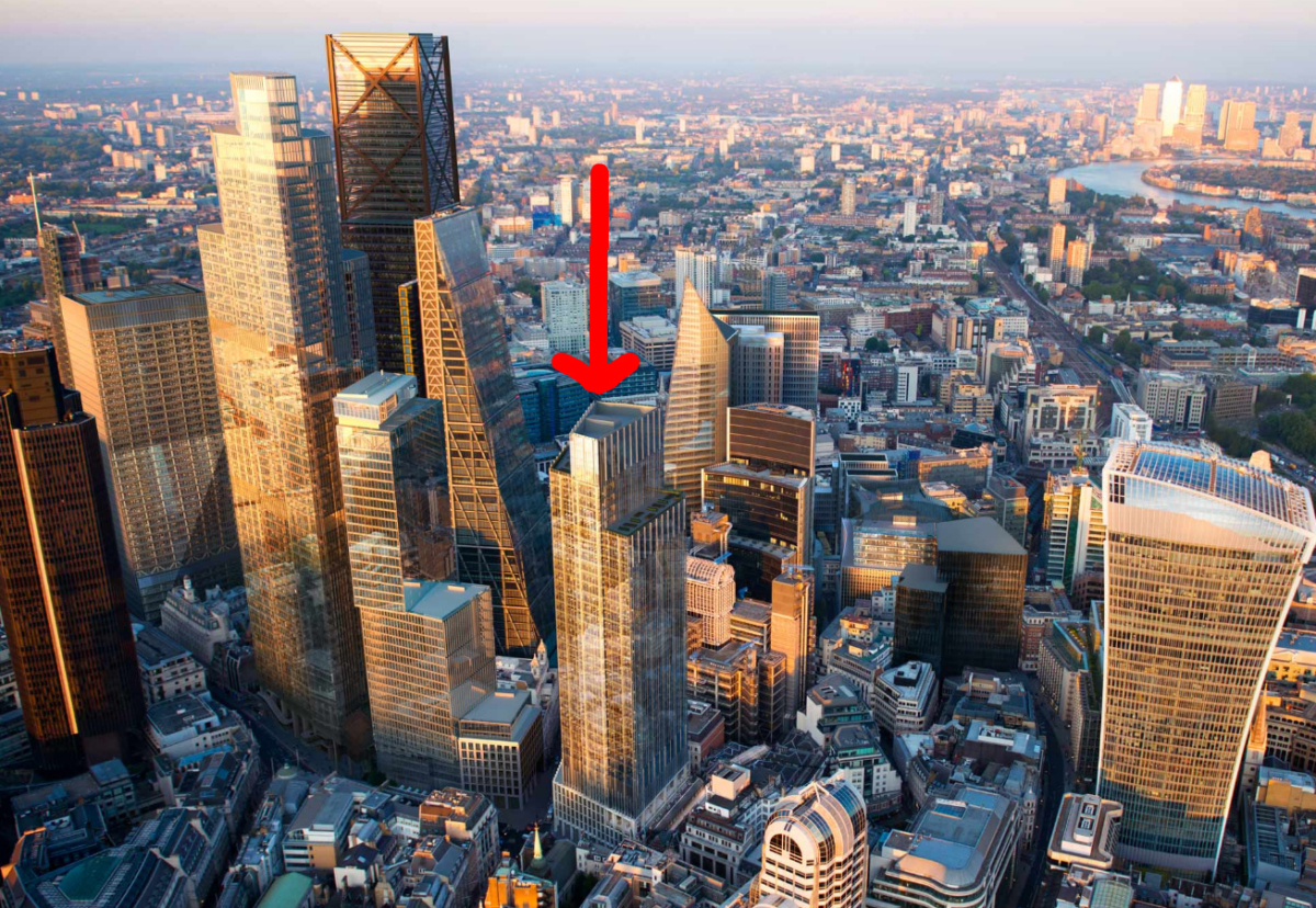 1 Leadenhall at 182.7m tall will be similar in height to the proposed 6-8 Bishopsgate building