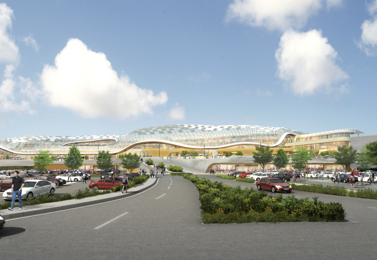 £300m extension will feature a striking undulating glazed roof structure