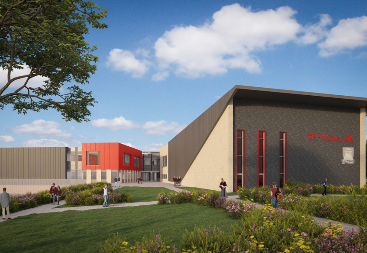 New two-storey 100,000 sq ft school building