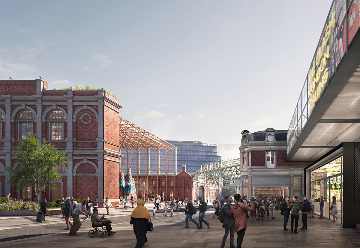 View of the old West Smithfield market buildings that will be restored
