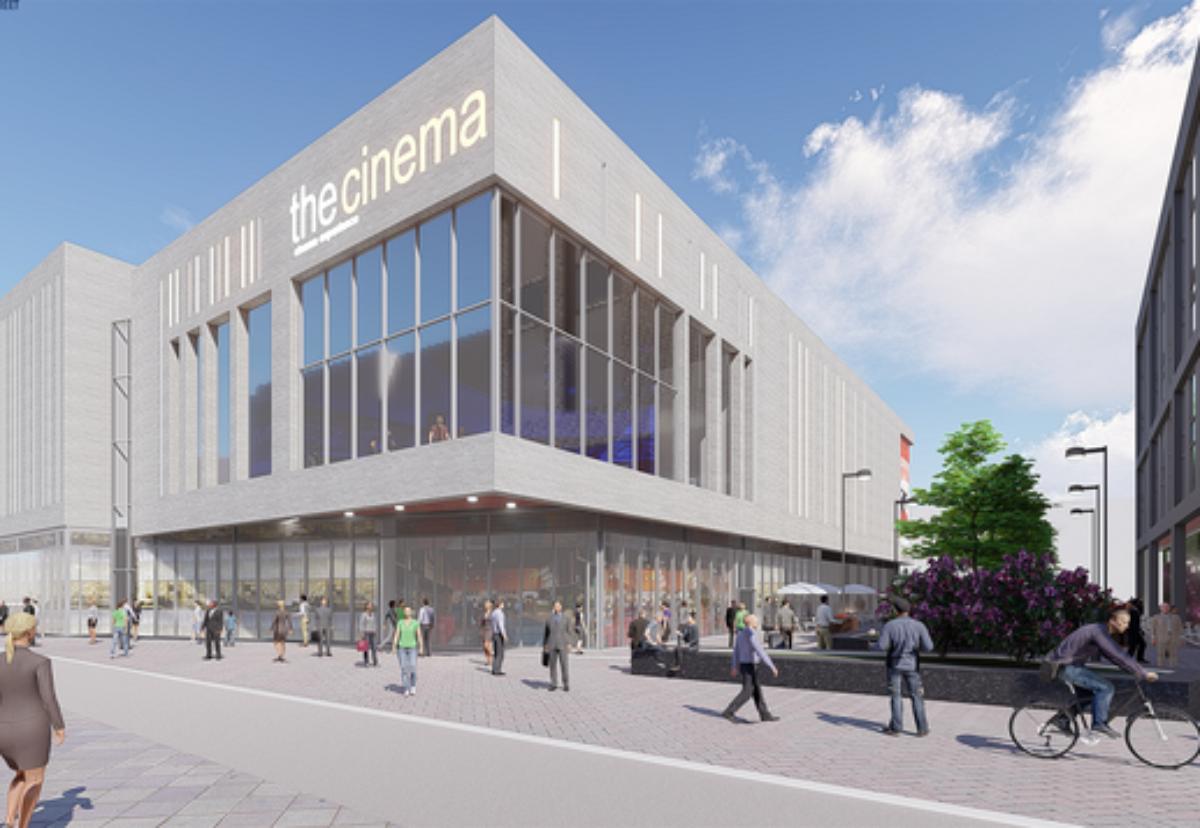 Seven-screen cinema building in Beeston Square