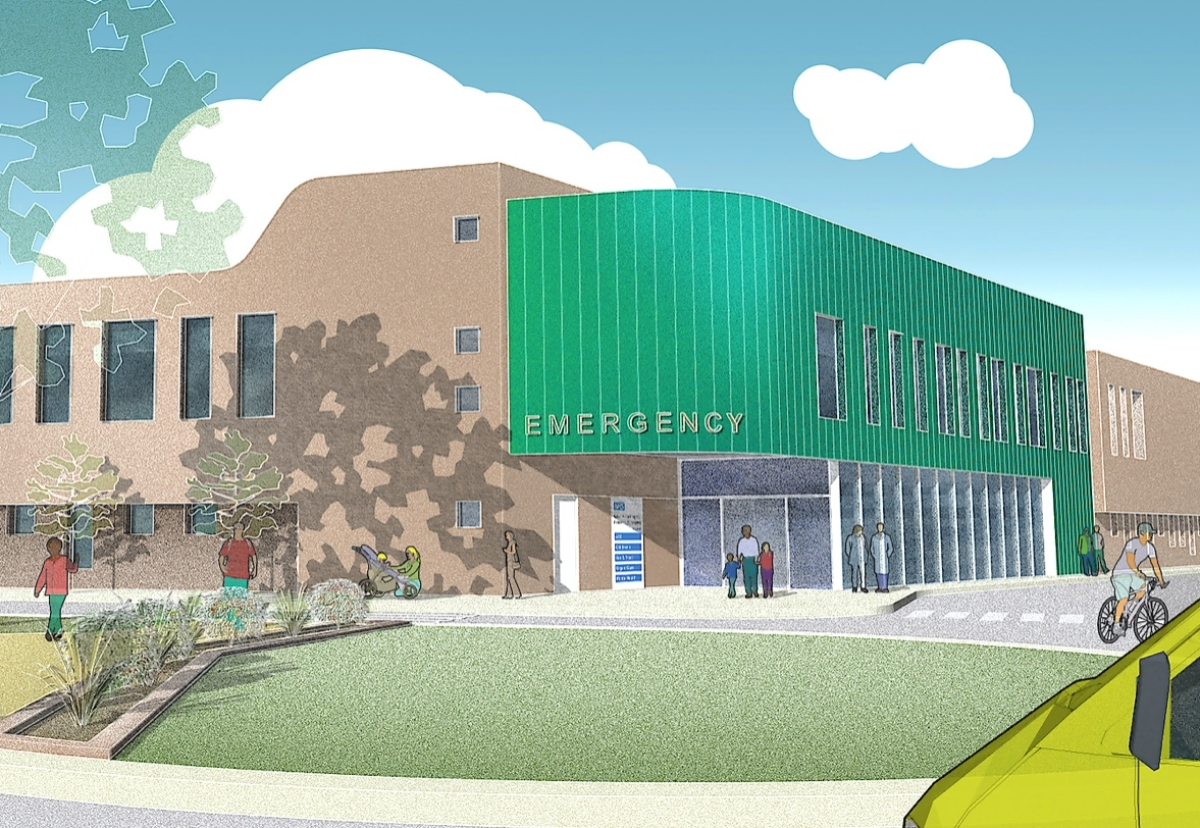 Planned new A&E facility at Walsall Manor Hospital