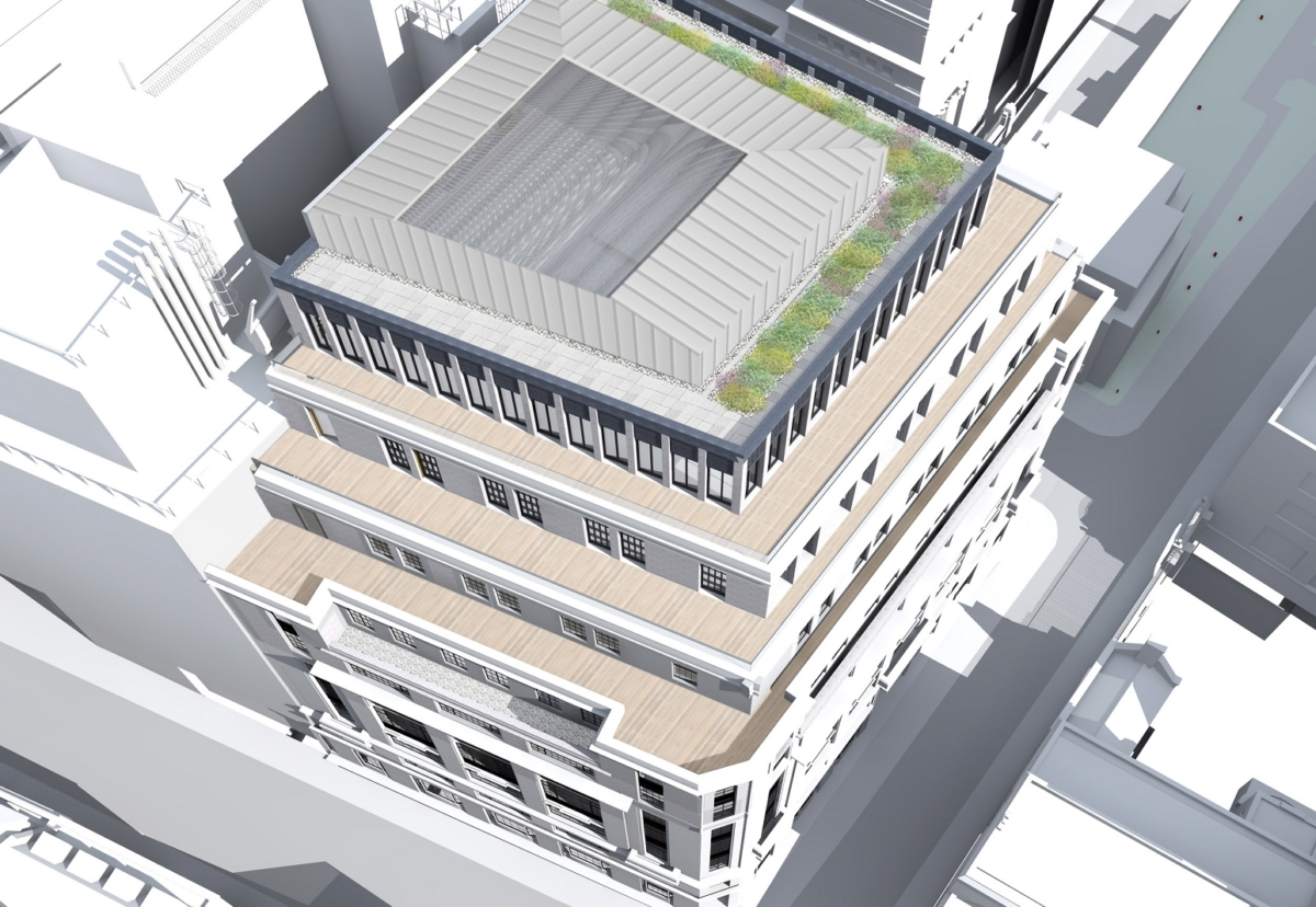 Foundations will be strenfthend to allow two extra floors to be built on 1930s building