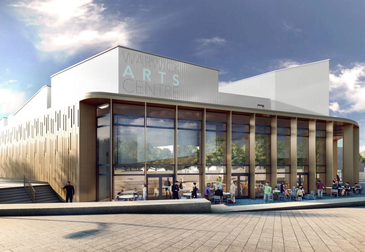 Warwick Arts Centre will be a part new-build and existing building upgrade