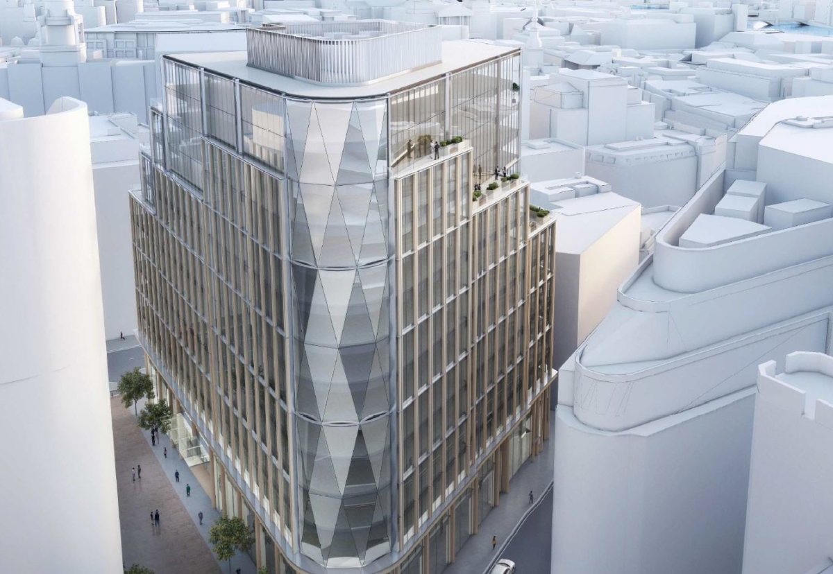 New Stonecutter Court building is designed as a new HQ building for a London tenant