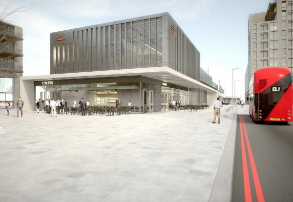 The planned new station at Barking Riverside