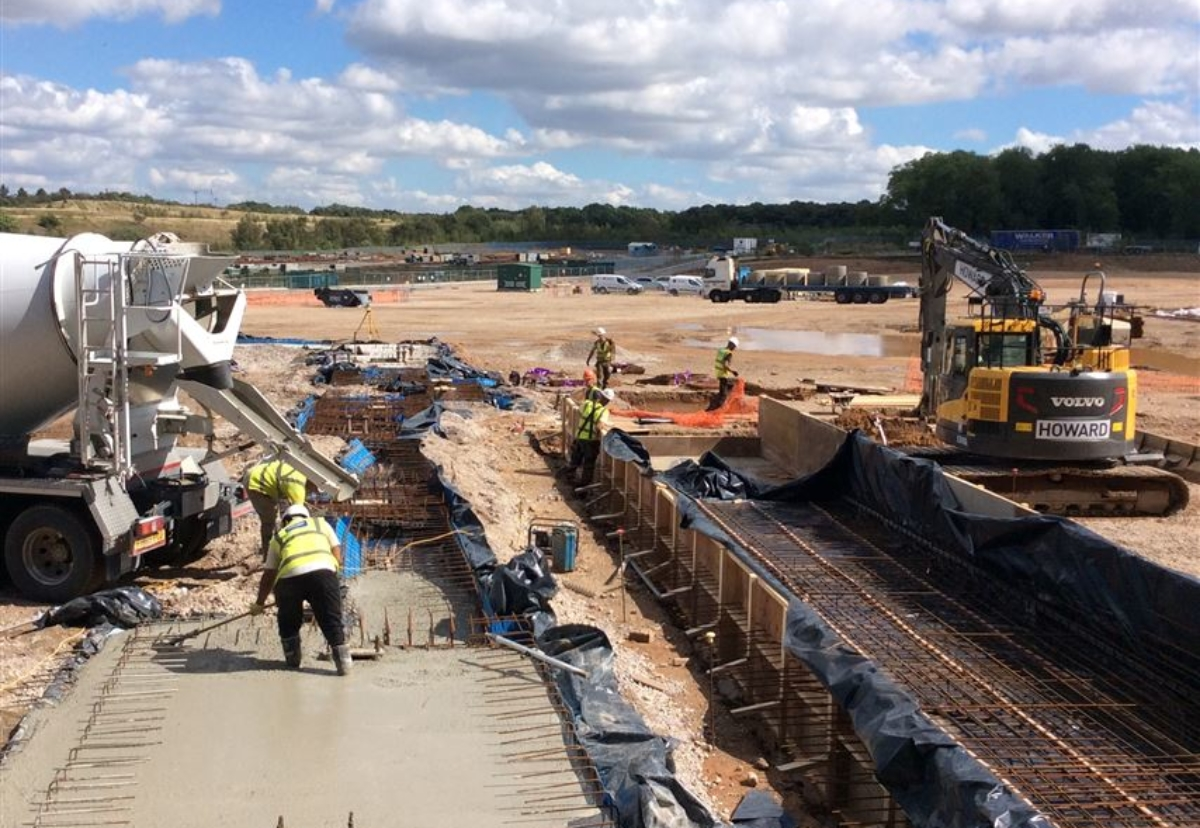 Howard Civil Engineering is currently working on the foundations for the new factory