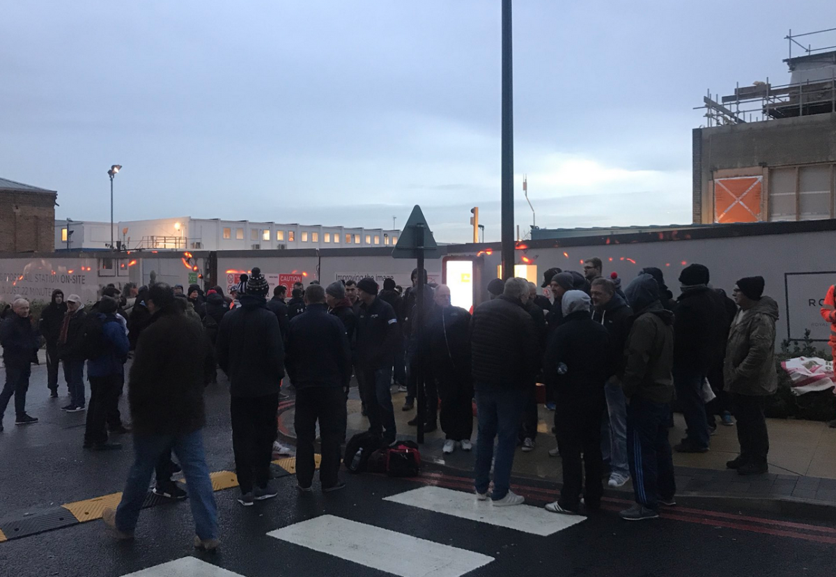 The Woolwich site has seen a series of worker protests in recent weeks