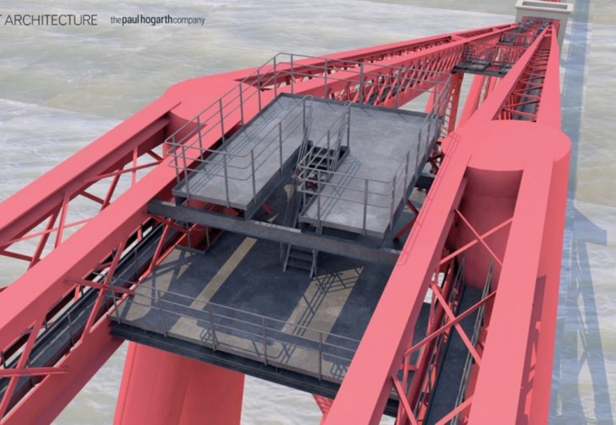 Planned viewing platform on the Forth Bridge
