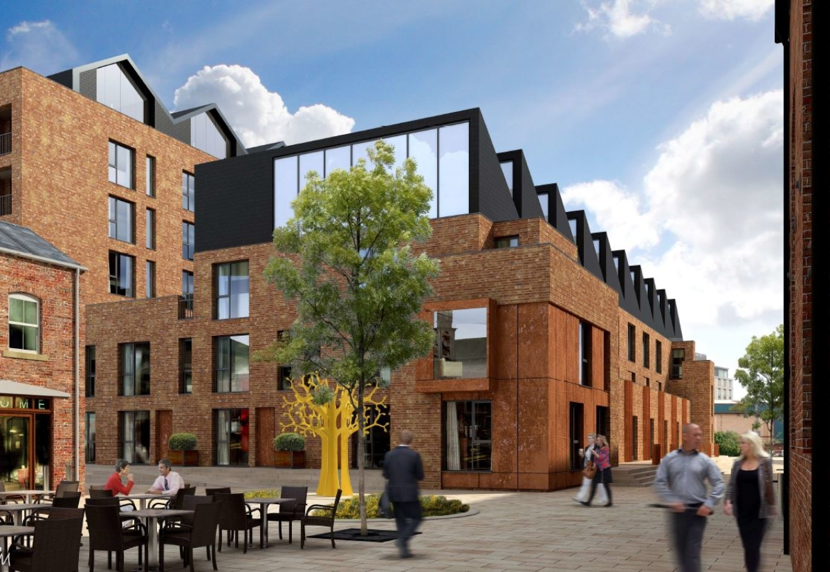 Designed by Leeds company Nick Brown Architects, the Ironworks project consists of a mix of flats and townhouses