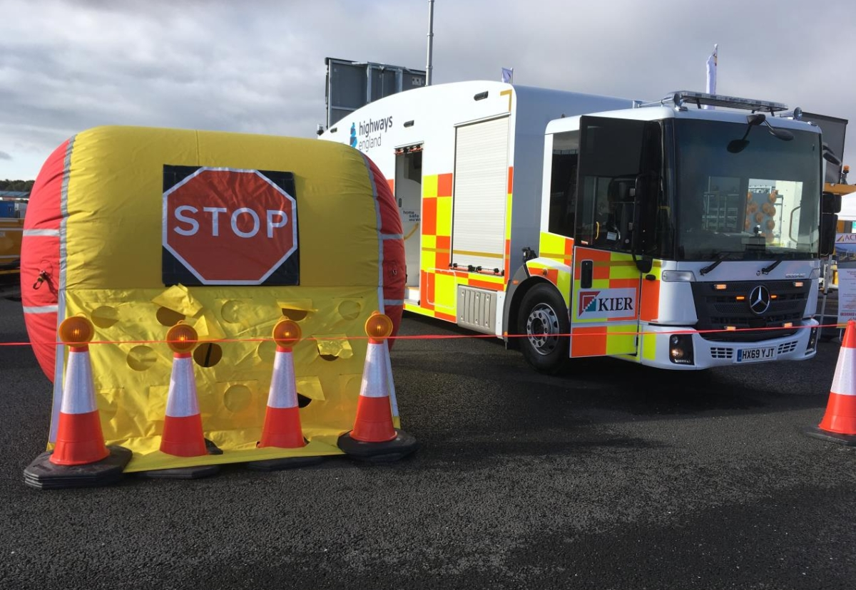 Vehicle Incursion Airbag aims to stop motorists driving into work areas at roadworks